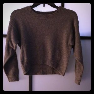 Girls New Grey/Brown Sparkle Sweater